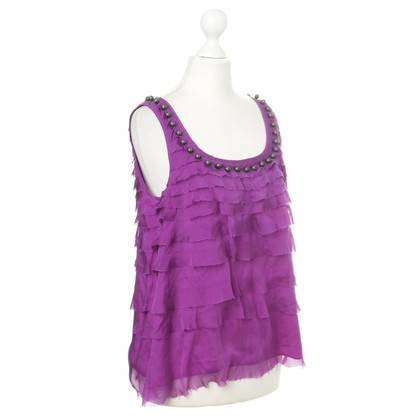 DKNY Top in seta viola