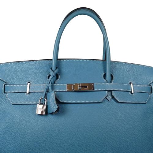 a91d6be0cfff Hermès Birkin bag 40 Blue Jean Togo leather - Second Hand Hermès ...