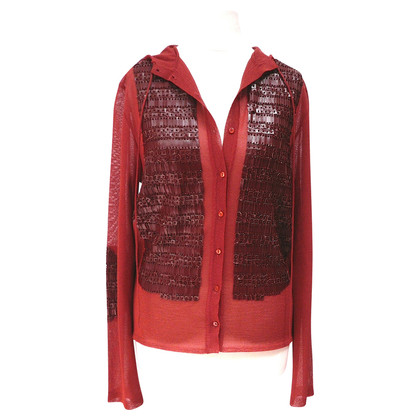 Christian Dior Hooded vest met leder
