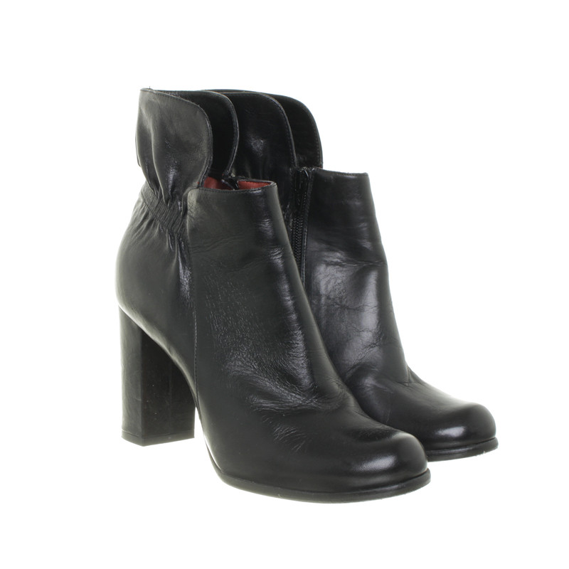 paco gil schwarze ankle boots second hand paco gil. Black Bedroom Furniture Sets. Home Design Ideas