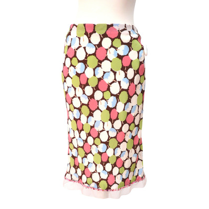 Louis Vuitton Silk skirt with colorful pattern