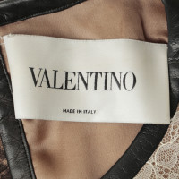 Valentino Lace dress with leather trim