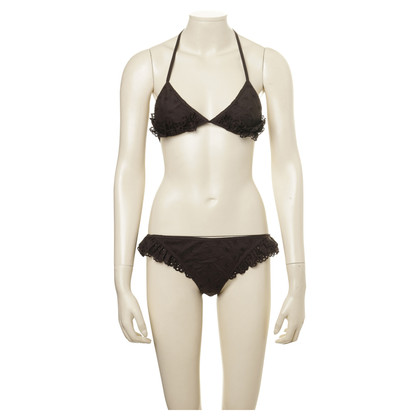 Louis Vuitton Dark brown triangle bikini