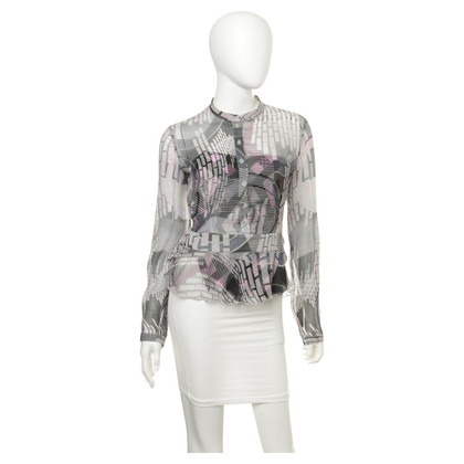 Armani Jeans Bluse mit Muster-Mix