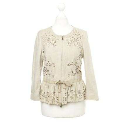 Red Valentino Lederjacke mit Cut-Outs