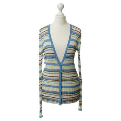 Missoni Cardigan with ribbed look and stripes