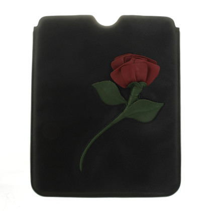 Prada I pad cover with rose emblem