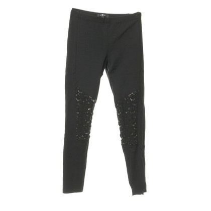 7 For All Mankind Leggings con inserto in pizzo