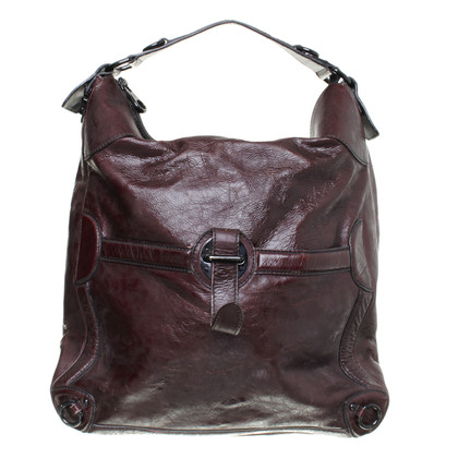 Alexander McQueen Tote Bag in Bordeaux