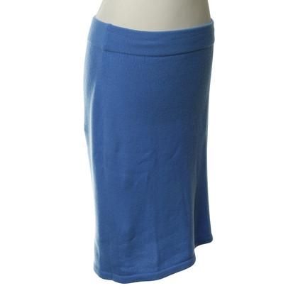 Iris von Arnim Light blue skirt from knitting