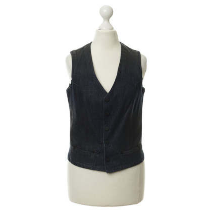 Karl Lagerfeld Gilet in denim con gradienti