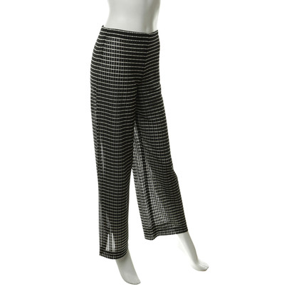 Giorgio Armani Pants with stripes and transparency