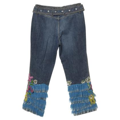 Escada Jeans mit opulenter Applikation