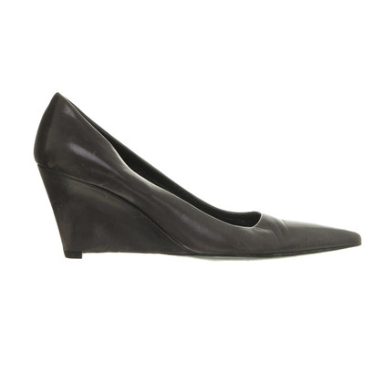 Jil Sander Graue Wedges
