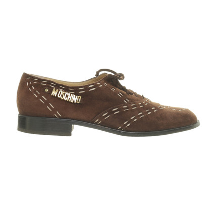 Moschino Scarpe stringate con cuciture decorative