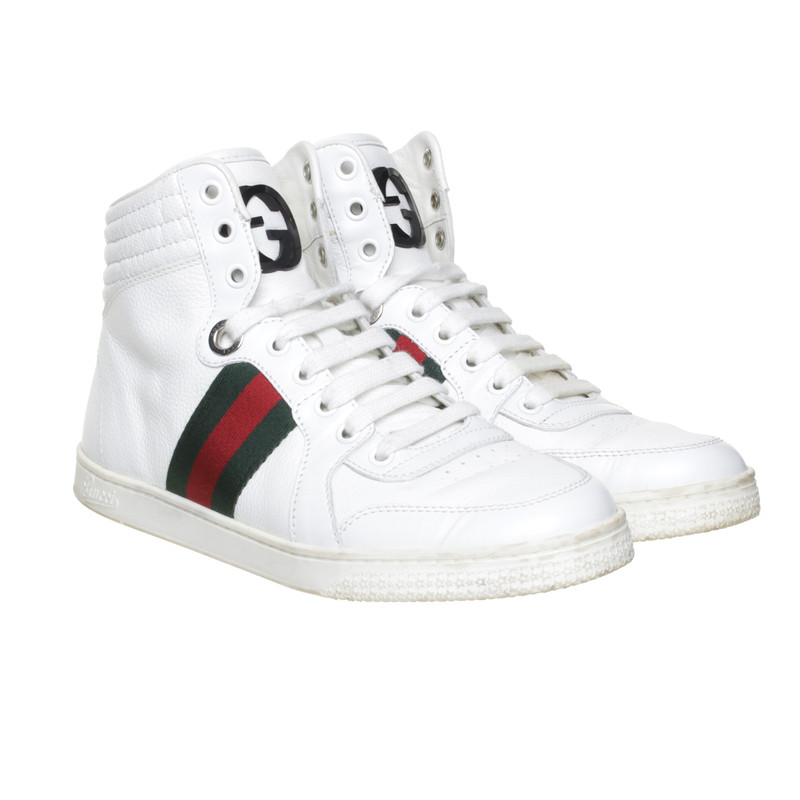 gucci hightop sneaker in wei second hand gucci hightop sneaker in wei gebraucht kaufen f r. Black Bedroom Furniture Sets. Home Design Ideas