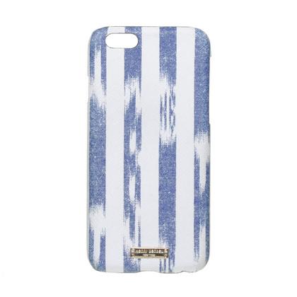 Altre marche Henri Bendel - porta cellulare in blu e bianco