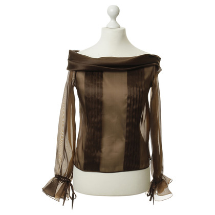 Rena Lange Silk organza blouse