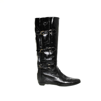 Jimmy Choo Patent leather boots with buckles