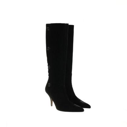 Manolo Blahnik Boots made of velvet