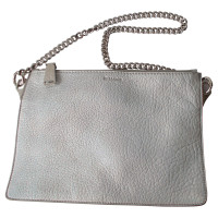 Jil Sander clutch silver leather