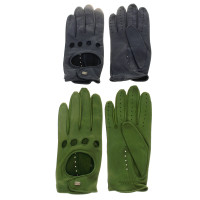 Other Designer Roeckl - leather gloves in green and blue
