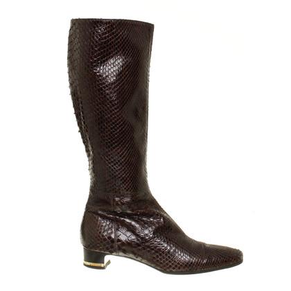 Dolce & Gabbana Stiefel aus Schlangenleder