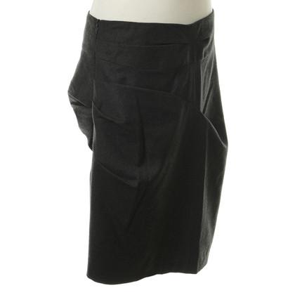 Dries van Noten Grey skirt with fold details