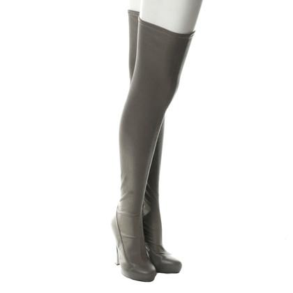 Roberto Cavalli Thigh high boots gray