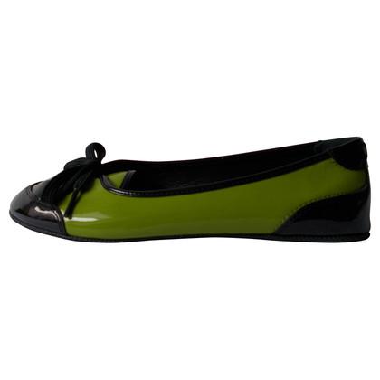 D&G Lacklederballerinas in Kiwi verde / nero