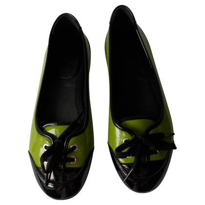 D&G Lacklederballerinas in Kiwi verde / nero