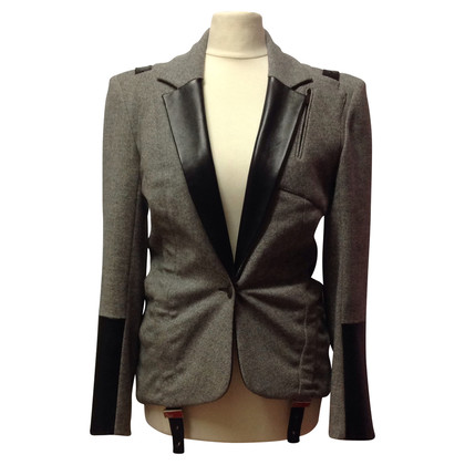 Christian Dior Trouser suit with leather details