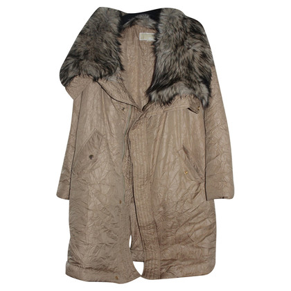 Michael Kors Quilted Jacket with faux fur
