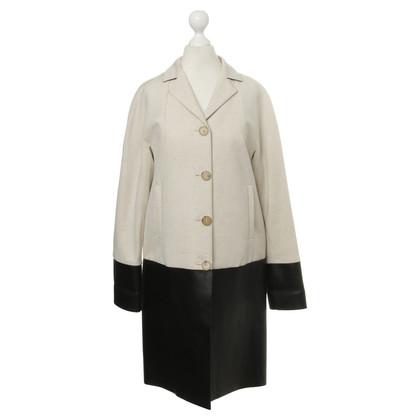 Bally Mantel aus Seide und Leder