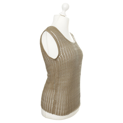 B Private Leather top with mesh design