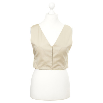 Alberta Ferretti Silk vest with embroidery