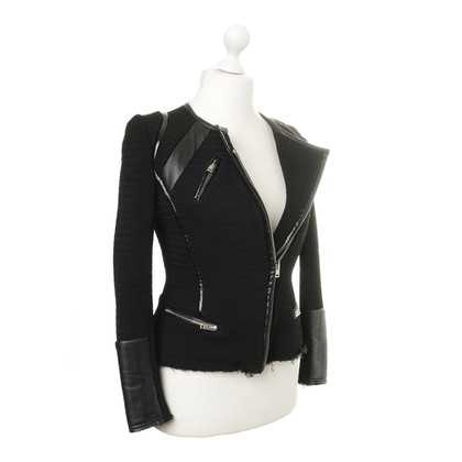 Iro Jacket with leather details