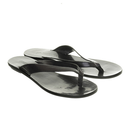 Jil Sander Leather Sandals in black