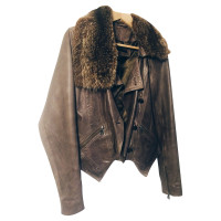 Set Leather jacket with Fox Fur