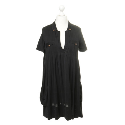 Maurizio Pecoraro  Dress with folds and copper buttons