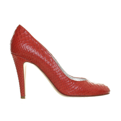 DKNY pumps Python leather
