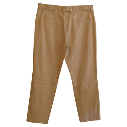 René Lezard Cigarette trousers in beige