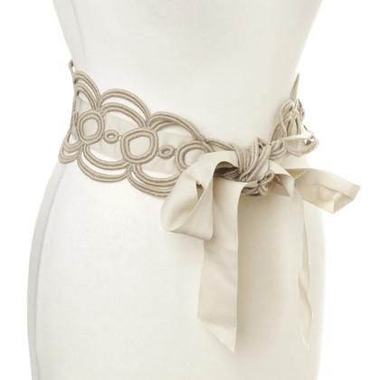 Maurizio Pecoraro  Fabric belts, beige