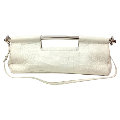 Prada clutch in reptile finish