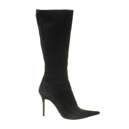Pollini Boots Black Suede