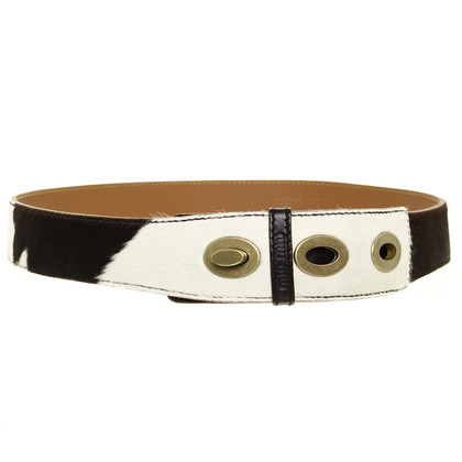 Miu Miu Belt with fur trim