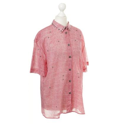 Bottega Veneta Katoen blouse in het rood
