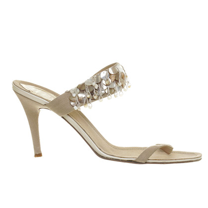 René Caovilla Sandals with decorative trim