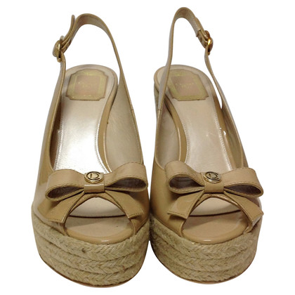 Christian Dior Peeptoe-Wedges