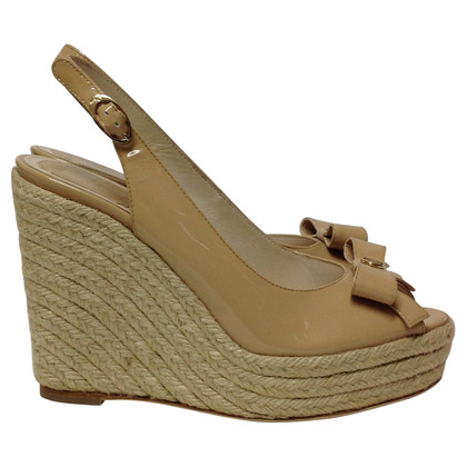 Christian Dior Peeptoe wedges
